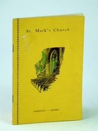 Jubilee Year Book (Yearbook) St. Mark's Church, Longueuil, Quebec, Diocese of Montreal, 1931