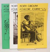 North Carolina Folklore Journal; vol. 27, numbers 1, 2 and 3 May, November and December1979
