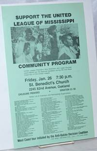 Support the United League of Mississippi. Community program [handbill]