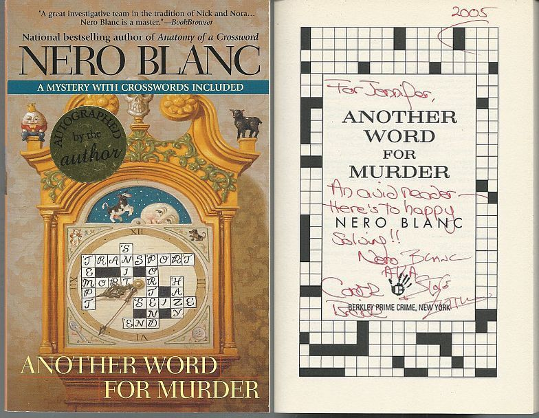 ANOTHER WORD FOR MURDER, Blanc, Nero