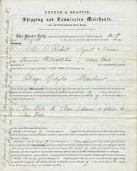 Contract to send 'Assorted Cargo' to New Orleans via Steamer Philadelphia during the Civil War Blockade