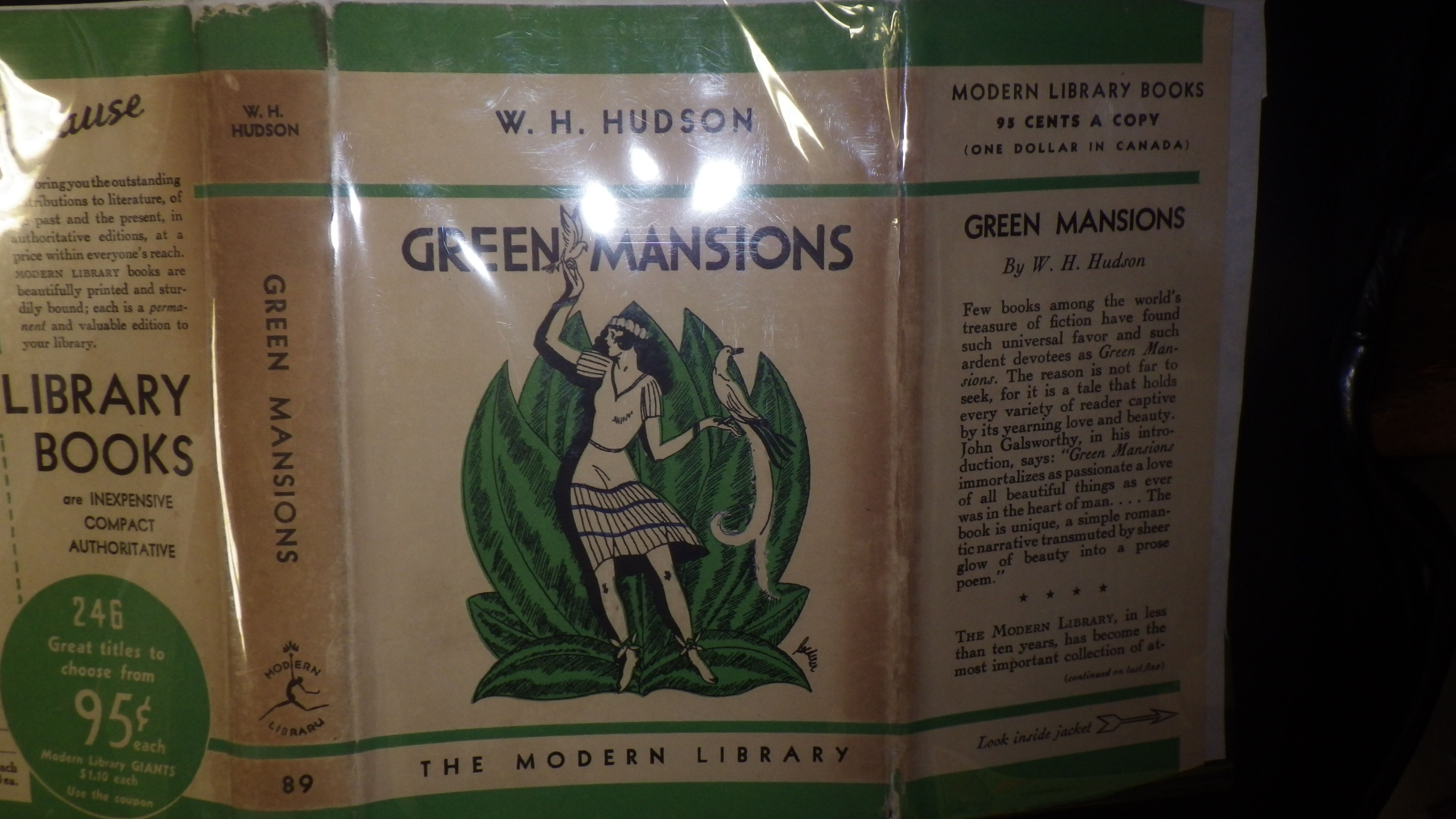 Modern Library Book Covers ~ Green mansions first edition of modern library book no