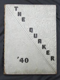 Quaker Yearbook 1940 Salem Ohio Father of Rock and Roll Allan Freed, Senior Year