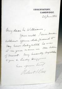 Autographed Letter Signed to Fellow Astronomer