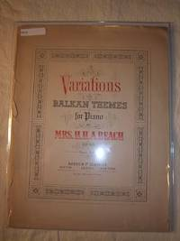 Variations on Balkan Themes for Piano, Op. 60