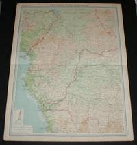image of Map of Central Africa - Western Section from the 1920 Times Survey Atlas (Plate 74) including Unbangi-Shari-Chad, Cammeroons, French Equatorial Africa, Gabon, Spanish Guinea, Belgian Congo (part), Nigeria (part), etc