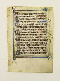 FROM AN ENGLISH PSALTER IN LATIN by  OFFERED INDIVIDUALLY ILLUMINATED VELLUM MANUSCRIPT LEAVES - 14th century - from Phillip J. Pirages Fine Books and Medieval Manuscripts (SKU: ST15198jC)