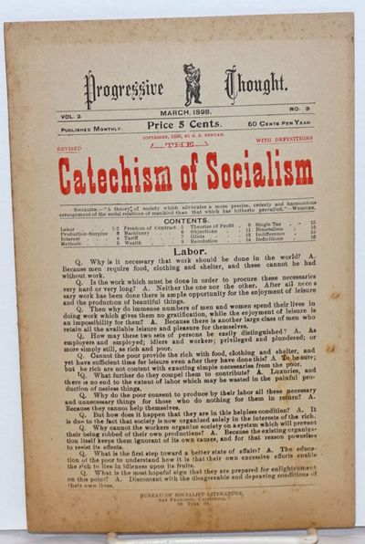 San Francisco: Bureau of Socialist Literature, 1898. Magazine. 16p., wraps, minor soiling, paper ton...