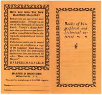 Books of biographical and historical interest [cover title] by Harper & Brothers  - 1926  - from Rulon-Miller Books (SKU: 45854)