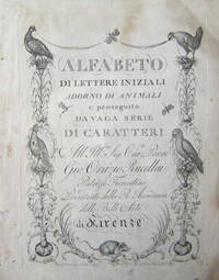 Firenze Giacomo Moro, 1797 . Folio, contemporary brown pastepaper-covered wrappers a little worn at ...