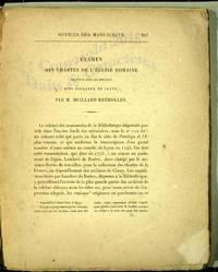 Examen des Chartes de L'Eglise Romaine Contenues Dans les Rouleaux dits de Cluny par  M.  Huillard-Breholles.