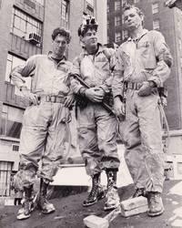 image of Ghostbusters (Original photograph of Dan Aykroyd, Harold Ramis, and Bill Murray on the set of the 1984 film)