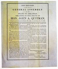 JOINT RESOLUTIONS OF THE GENERAL ASSEMBLY OF THE STATE OF ARKANSAS, RELATIVE TO THE DEATH OF HON. JOHN A. QUITMAN