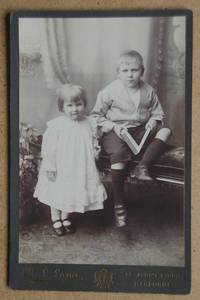 Cabinet Photograph: A Charming Studio Portrait of a Young Brother & Sister.