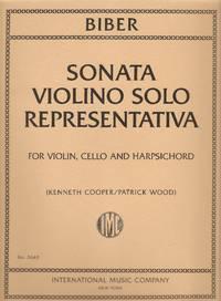Biber Sonata Violino Solo Representativa For Violin, Cello and Harpsichord