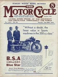 Motor Cycling [Magazine] Covers Every Phase of the Movement and Circulates Throughout the World. Stanley Woods' Riding Methods. Volume 50. No. 1,577. June 29th, 1933