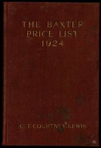 The Baxter Price List 1924 (The Picture Printer Price List)