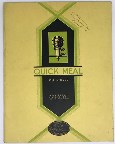 Cleveland: American Stove Company, 1929. Staplebound. Yellow illustrated wraps. Very good. 31 pages....