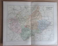 MAP OF LEICESTERSHIRE AND RUTLAND- 1894 by J.H.F. Brabner - Paperback - 1894 - from Winghale Books (SKU: 089484)