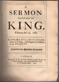 A sermon preached before the King, February the 15. 1683/4.