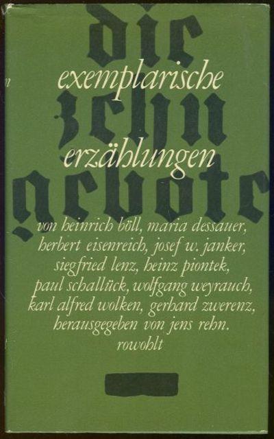 DIE ZEHN GEBOTE Exemplarische Erzählungen, Rowohlt, Jens Rehn Herausgegeben