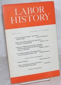 image of Labor history. vol 15, no. 4, Fall, 1974