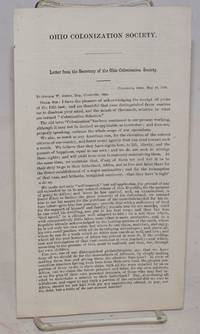 Letter from the Secretary of the Ohio Colonization Society [leaflet]