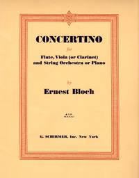 Concertino for Flute, Viola (or Clarinet) and String Orchestra or Piano  [[FULL PIANO SCORE and THREE PARTS]