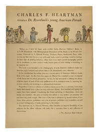 Charles F. Heartman Reviews Dr. Rosenbach's Young American Parade (broadside)
