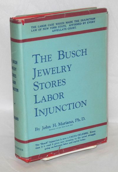 Boston: The Christopher Publishing, 1940. Hardcover. 238p., very good condition in a dj with light c...