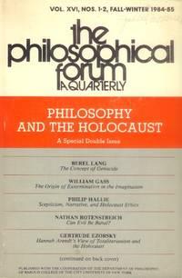 image of The Philosophical Forum: A Quarterly Vol. XVI, No. 1-2, Fall-Winter 1984-85