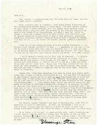 image of Lengthy typed letter signed from Stan Brakhage to Will Petersen