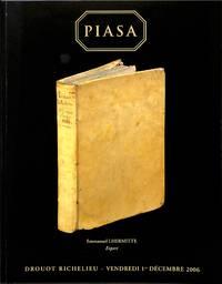 Vente 1 decembre 2006: Livres anciens et modernes, ouvrages de  bibliographie.