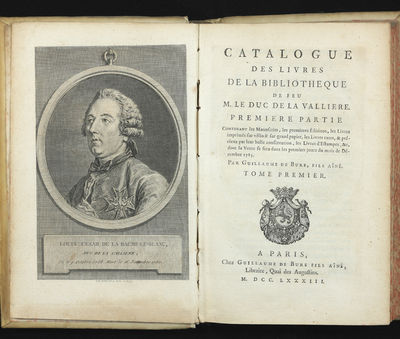 abaa catalogue des livres de la bibliotheque de feu m le duc de la valliere premiere partie. Black Bedroom Furniture Sets. Home Design Ideas