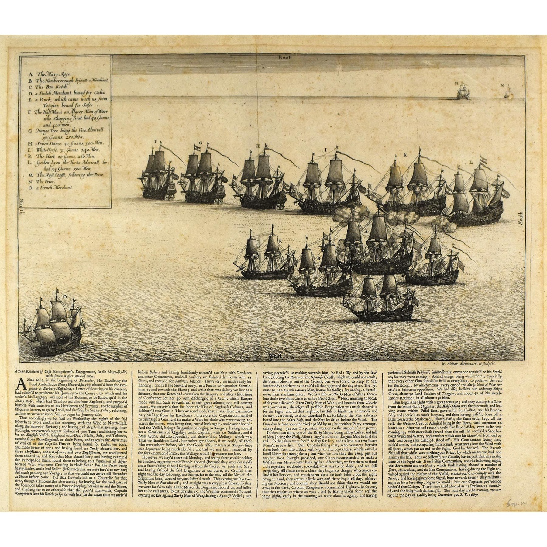 A True Relation of Capt. Kempthorn's Engagement, in the Mary-Rose, with seven Algier Men of War. (photo 1)