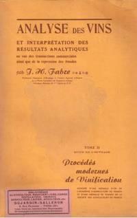 Analyse des vins et interprétations des résultats analytiques en vue des...