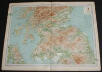 "image of Map of ""Scotland - Southern Section"" from the 1920 Times Atlas (Plate 21) covering Solway Firth to Montrose including Glasgow, Endinburgh, Arran, Mull, Carlisle, Durham and Belfast"