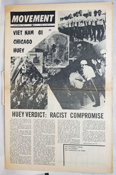San Francisco: The Movement Press, 1968. 16p., folded tabloid, illus., lightly toned, very good cond...