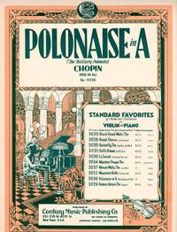 Polonaise in A (The Military Polonaise), Opus 40 No.1 - for Violin and Piano [FULL SCORE and VIOLIN PART]