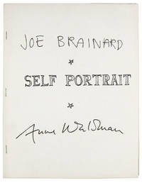 SELF PORTRAIT by  Joe & Anne Waldman Brainard - Paperback - First Edition - 1972 - from W. C. Baker Rare Books & Ephemera and Biblio.com