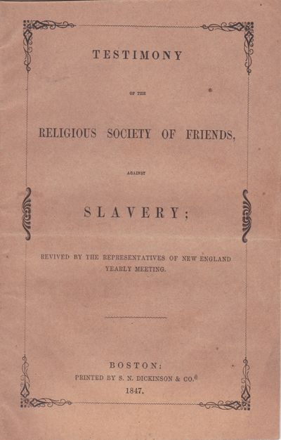 Testimony of the Religious Society of...