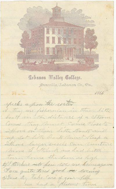 Annville, Labanon Co., PA, 1866. A 9