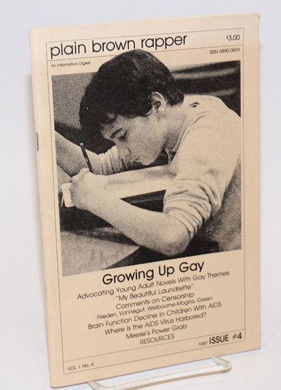 San Diego: Omnium Gatherum, Inc, 1987. Magazine. 36p. including covers, 6x9 inches, illustrations, f...