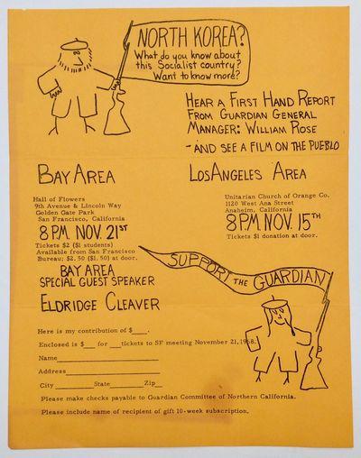 San Francisco: Guardian Committee of Northern California, 1968. 8.5x11 inch handbill, uneven toning....
