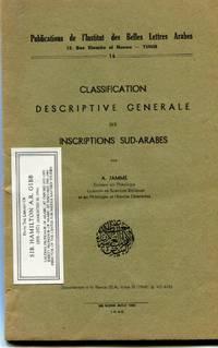 Classification Descriptive Generale des Inscriptions Sud-Arabes