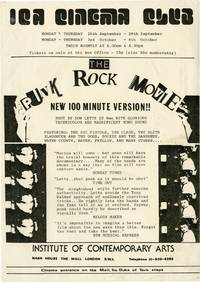 image of Punk Rock Movie (Original handbill from the film's earliest showing in the London)