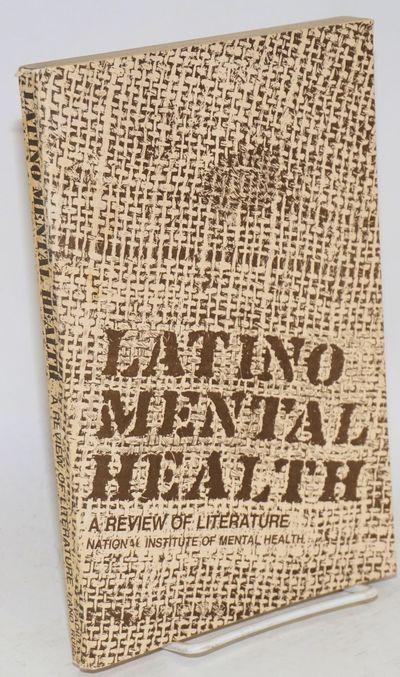 Rockville: National Institute of Mental Health, 1973. Paperback. v, 189p., foreword, introduction, s...