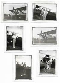 Lot of Set of Six Vintage Airplane Photographs [Snapshots, Aviation, Michigan]
