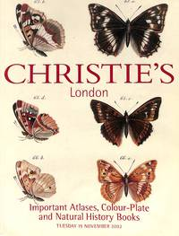 Sale 19 November 2002: Important Atlases, Colour-Plate and Natural History  Books.