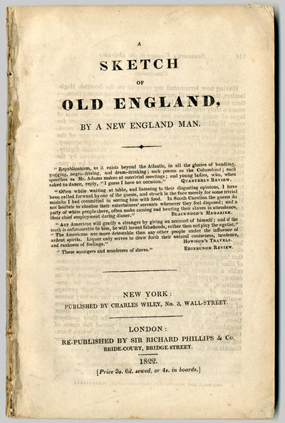 London: Sir Richard Phillips & Co., 1822. 136pp. Extracted from bound volume. A few corners lightly ...